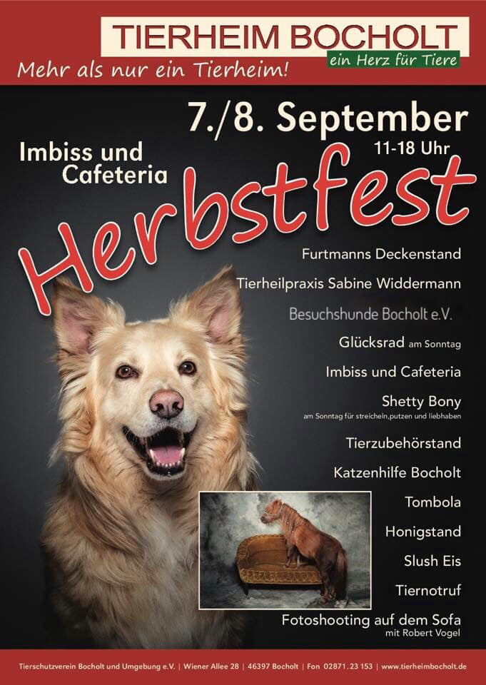 HERBSTFEST DES TIERHEIMS BOCHOLT IM SEPTEMBER 2019
