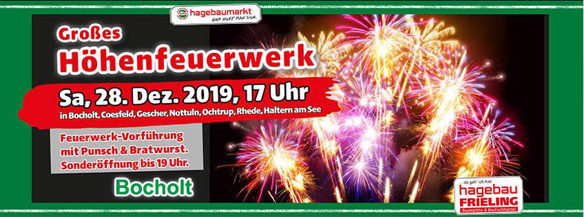 HOEHENFEUERWERK HAGEBAUMARKT BOCHOLT IM DEZEMBER 2019