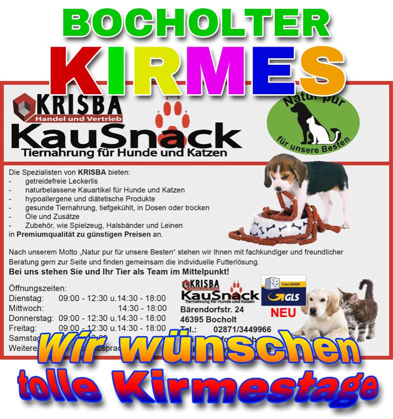 KRISBA KAUSNACK WUENSCHT TOLLE KIRMESTAGE 2019