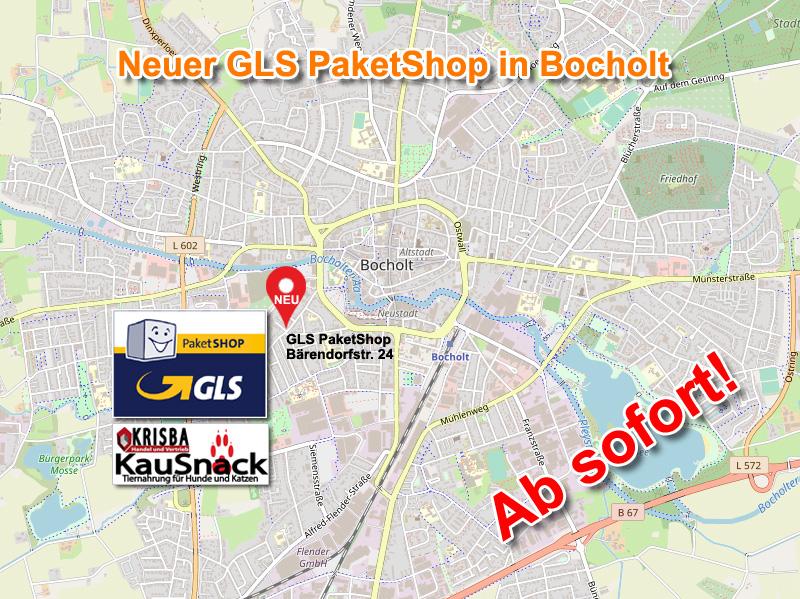 NEUER GLS PAKETSHOP IN BOCHOLT