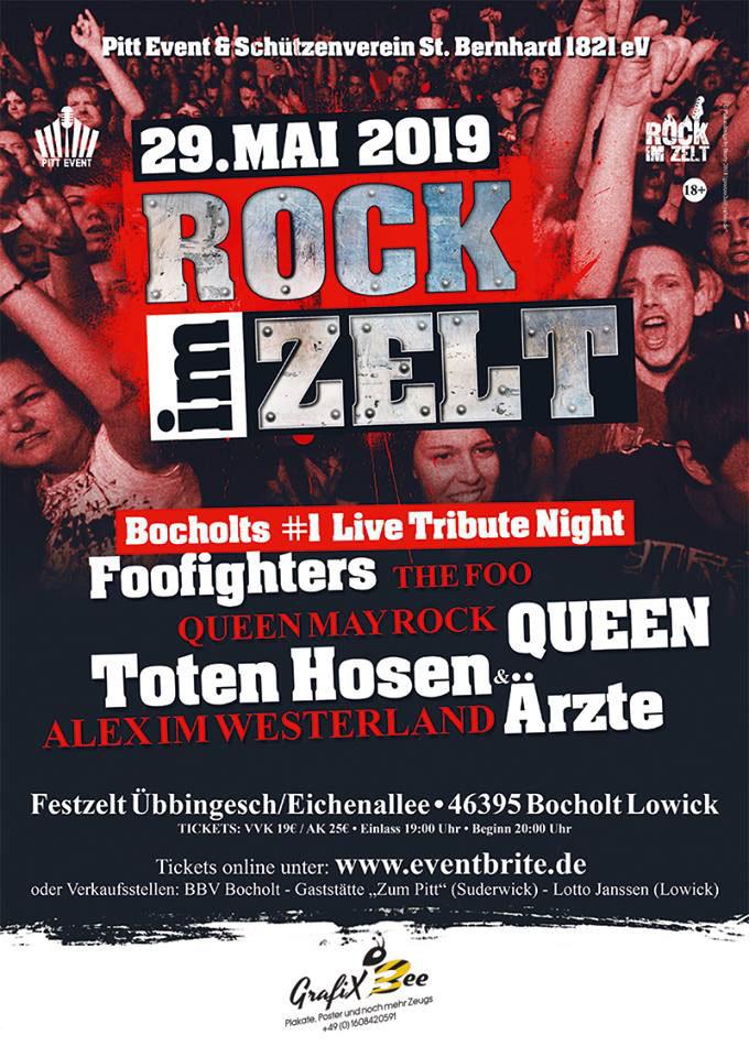 ROCK IM ZELT AM 29 MAI 2019